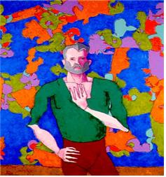 해롤드 코헨이 아론으로 그린 1992년 작품 - 해롤드 코헨 제공