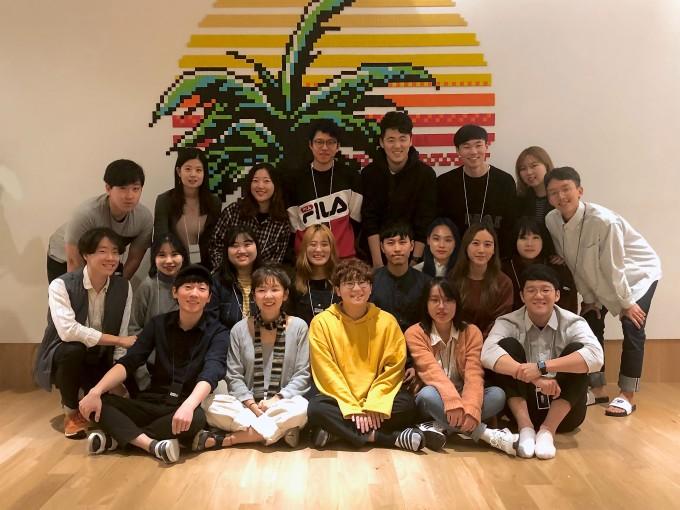 UNIST 학생창업기업 페달링 단체사진. 공대선 대표(오른쪽 맨 아래)와 팀원들의 모습이다. -울산과학기술원 제공
