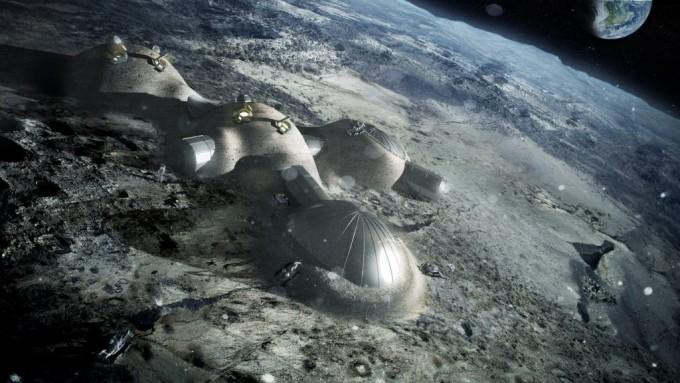 달에 거주지를 짓는다면 이런 느낌일까. 우주 방사선을 막기 위해 달 표토에 덮인 모습을 그린 상상도. - 사진 제공 ESA/문빌리지