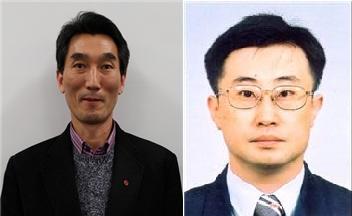 10월의 대한민국 엔지니어상 수상자 양남열 LG전자 연구위원(왼쪽)과 노경원 신코 상무. - 사진 제공 과학기술정보통신부