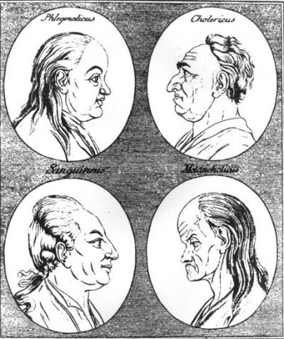 요한 카스파 라바터는 18세기 무렵 독일의 관상가였다. 그는 자신의 책, <Physiognomische Fragmente zur Beförderung der Menschenkenntnis und Menschenliebe>에서 인간의 성격과 외양의 관련성을 주장했다. 4체액설에 입각하여, 네 가지 기본 성격 및 관련된 얼굴 형태를 제시했다. - 위키미디어 제공