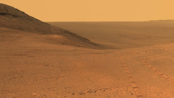 지난 6월 이후 통신이 두절된 NASA의 화성 탐사선 오퍼튜니티가 찍어 보낸 영상. - 사진 제공 NASA