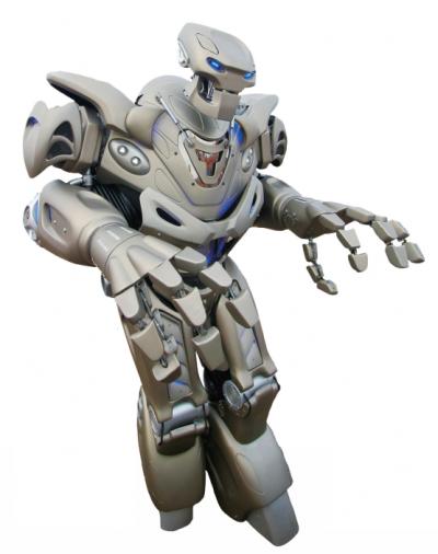 영국의  엔터테인먼트 기업  사이버슈타인로봇사가  만든 타이탄 로봇.- Funk Dooby(F) 제공
