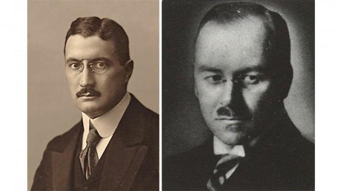1925년 독일의 화학자 프란츠 피셔(왼쪽)과 한스 트롭(오른쪽)은 석탄에서 액체연료(합성석유)를 만드는 '피셔-트롭 공정'을 개발했다.