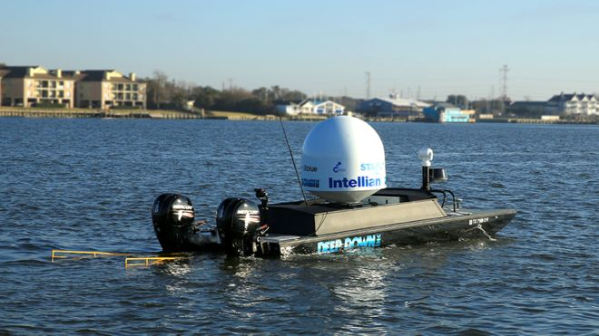 결승에 진출한 텍사스 A&M 오션 엔지니이링 팀이 개발한 탐사장비. X프라이즈 위원회 제공.
