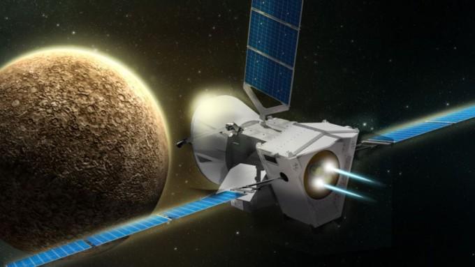 수성에 접근하는 베피콜롬보 상상도. -사진 제공 ESA