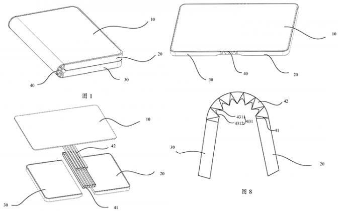 화웨이의 폴더블폰 특허 자료. 중국 특허청