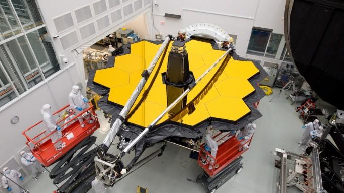 미국 텍사스 휴스턴의 나자 존슨 우주센터에서 개발 중인 JWST- NASA 제공
