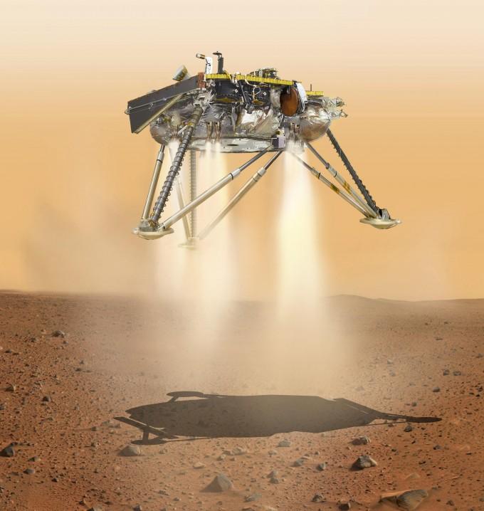 최종착륙하는 인사이트 상상도 - 사진 제공 NASA
