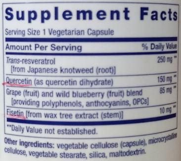 케르세틴과 피세틴은 플라보노이드 사운데 비교적 덜 알려진 종류이지만 이미 몇몇 건강보조식품에 쓰이고 있다. 한 레스베라트롤 제품의 성분표시로 케르세틴과 피세틴이 조연을 맡고 있다. 만일 두 물질의 세놀리틱 효과가 사람에서도 입증된다면 단숨에 주연으로 뛰어오를 것이다. 제공 강석기