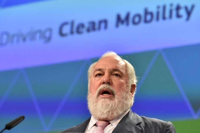 미겔 카녜테 유럽위원회(EC) 기후판무관이 유럽의 기후변화 대응방안에 대해 강조하고 있다. - 로이터/연합뉴스