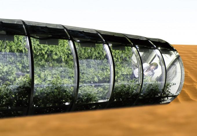NASA는 미국 아리조나대학교와 식물에 필요한 이산화탄소를 우주에서 공급하는 방법도 연구하고 있다. 사진은 우주비행사가 배출한 이산화탄소로 식물을 키우도록 고안해 실험 중인 '루나 그린하우스'다. University of Arizona 제공