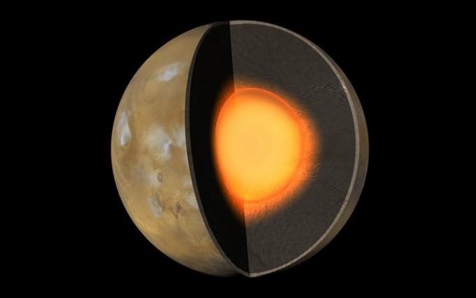 화성의 내부 구조. NASA 제공