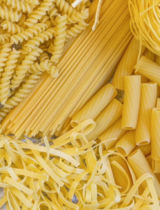 스파게티나 마카로니를 만드는 밀은 빵이나 면류에 쓰이는 보통밀이 아니라 '듀럼밀'이다. 듀럼밀은 보통밀과 품종이 완전히 다르고, 염색체도 4배체(AABB 타입) 28개다. - 게티이미지뱅크 제공