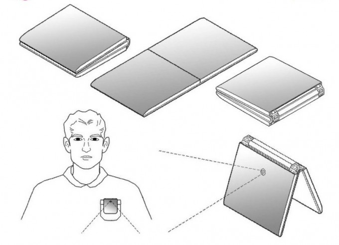 LG의 폴더블폰 특허 자료. 미국 특허청