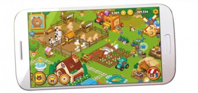 농장게임 '브라운팜'(아래 사진). 스마트폰으로 게임을 하듯 실제 농장도 스마트폰에 터치만 하면 물을 줄 수 있다. 라인플러스 제공