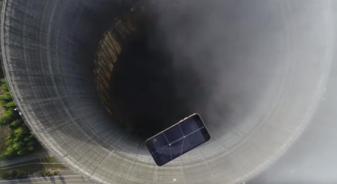 원자력발전소에서 아이폰 추락 테스트