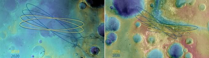 옥시아 플라눔(왼쪽)과 마우스 발리스의 모습이다-ESA 제공