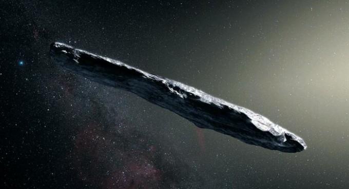 태양계 방문 첫 외계 천체 ′오무아무아′의 상상도다 -유럽남부천문대 제공