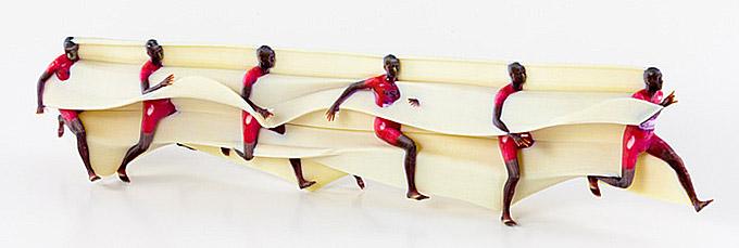 프로그램 'MoSculp'를 이용해 달리기 선수의 움직임을 3D 프린터로 인쇄한 '모션 조각상'. - Jason Dorfman 제공