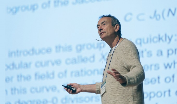케네스 리벳 교수는 10월 5일 한국과 독일 수학자들이 함께 개최한 '한국독일공동국제학술회의'에서 자신의 최근 연구를 소개하는 기조강연을 했다. 대한수학회