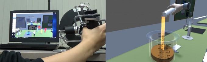 박진아 KAIST 전산학부 교수팀이 개발중인, 손을 더 정교하게 표현할 수 있는 기술. 손을 1점으로 인식하던 과거와 달리, 두 점을 인식해 보다 정확한 손 동작을 재현할 수 있다. - 사진 제공 박진아 교수 연구실