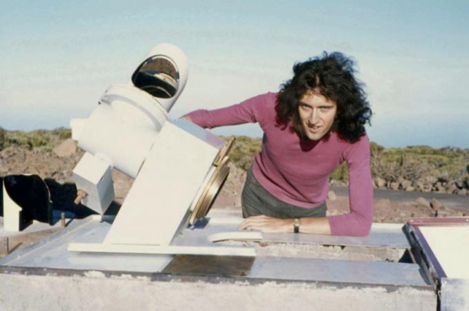 1971년 테네리페섬의 관측소에서 연구하던 브라이언 메이다.-임페리얼칼리지런던 제공