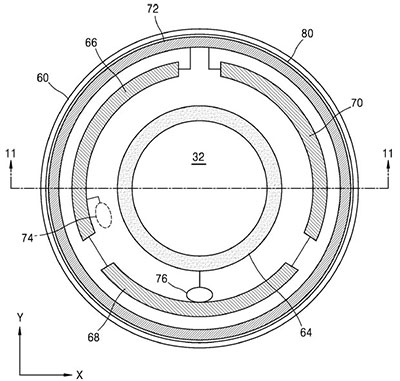 삼성의 스마트 렌즈 개념도. 미 특허청