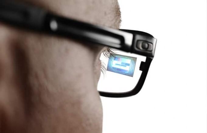 인텔이 개발한 스마트 안경 '바운트'. 새로운 시각 정보가 렌즈에 투영되는 방식입니다. 인텔 제공