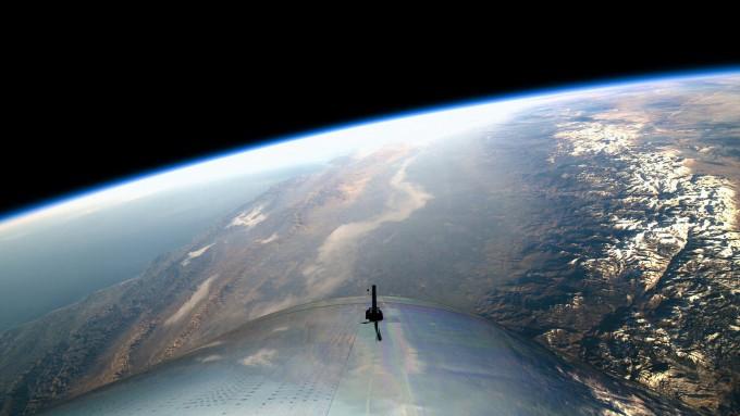 VSS 유니티에서 바라본 지구의 모습. -버진갤럭틱 제공