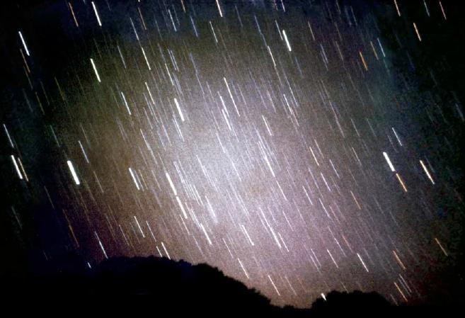 1971년 테네리페 관측소에서 찍은 황도광-임페리얼칼리지런던 제공