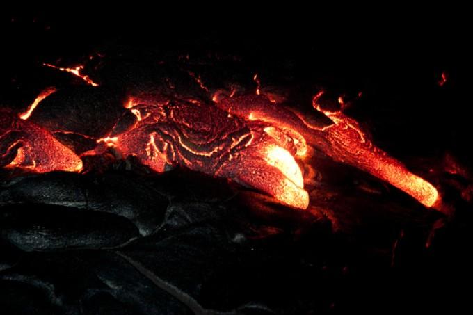 흐르는 용암의 속도나 그 면적은 예상을 하기 힘들다.-게티이미지뱅크