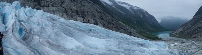 노르웨이의 빙하. 플라이스토세 대부분의 기간 동안 유럽 대륙의 상당 부분이 거대한 얼음으로 뒤덮여 있었다. 픽사베이