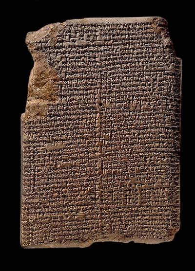 고대 바빌론 지역에서 발견된 기원전 1000년경의 점토판. '물.아핀'이라 불리는 이 점토판에는 66개에 달하는 별과 별자리가 기록되어 있다. Desconocido(W) 제공