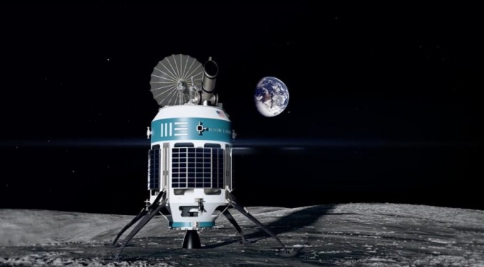 미국의 우주개발 스타트업 문익스프레스의 달 착륙선 상상도. 문익스프레스는 지난달 말 미국항공우주국(NASA)이 선정한 달 착륙선 개발 경쟁 참여 우주기업 9곳 중 하나로 꼽혔다. NASA는 달 착륙 50주년을 맞는 내년에 새로운 달 착륙선을 보낸다는 계획이다. - 문익스프레스 제공