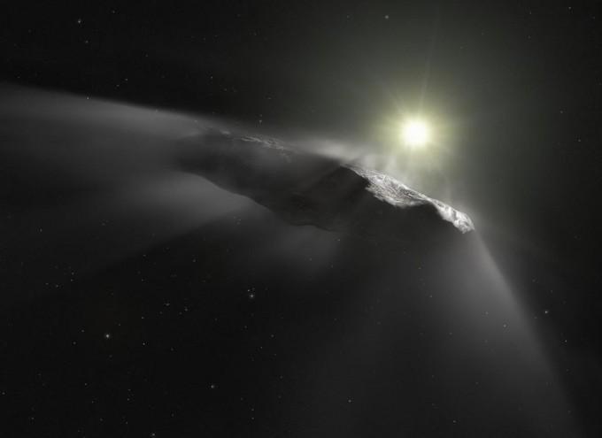 인류가 발견한 첫 태양계 내 성간 천체 오무아무아의 상상도. -사진 제공 ESA, NASA, ESO