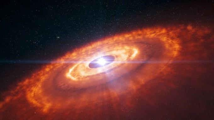 새 별을 만들고 길러내는 '행성 보육원' 윈시행성원반의 모습이다 –유럽 남반구 천문대 제공