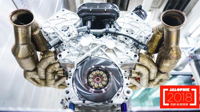 미국 자동차 전문매체 잘롭닉이 2018년 올해의 자동차 기술 10가지를 선정했다. 이 엔진은 애스턴마틴 발키리의 엔진이다.-애스턴마틴 제공