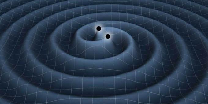 중력파는 블랙홀, 중성자별이 병합되는 것처럼 질량이 있는 물체가 가속 운동을 할 때 발생하는 파동이다. 빛의 속도로 전파되면서 주변 시공간을 휘게 만든다. - 미국항공우주국 제공