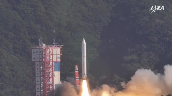 일본우주항공연구개발기구(JAXA)의 엡실론 4호기가 18일 오전 9시 50분에 발사에 성공했다.-JAXA 제공