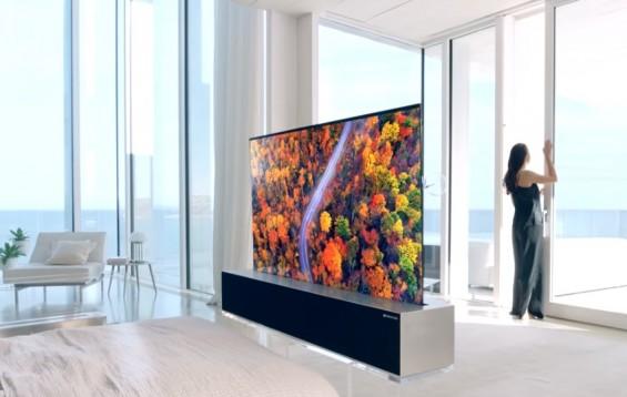 LG, 세계 최초 '돌돌 말리는' 롤러블 올레드TV 공개