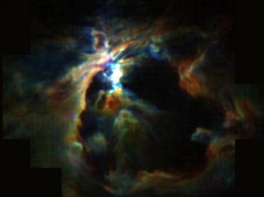 새 별에서 일어난 성풍(星風)이 주변 별 형성 억제