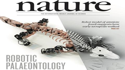 [표지로 읽는 과학] 미싱 링크 찾는 로봇 고생물학