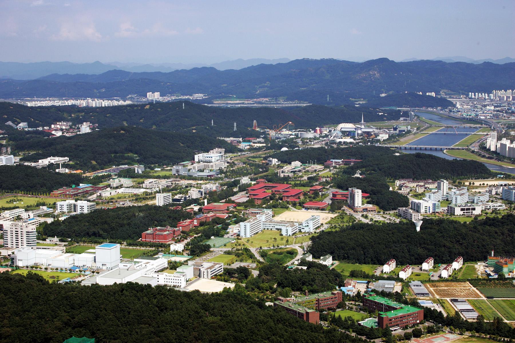 하늘에서 내려다본 대전 대덕특구 전경. 연합뉴스