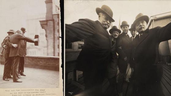 100년 전의 집단 셀카 '화제'