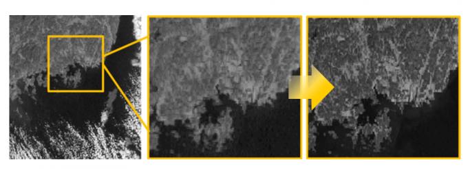 천리안 2A호(맨끝)와 천리안 1호의 영상 해상도 비교. 천리안 2A는 천리안 1호에 비해 공간을 세밀하게 관측하는 능력이 4배 향상됐다. 과학기술정보통신부 제공