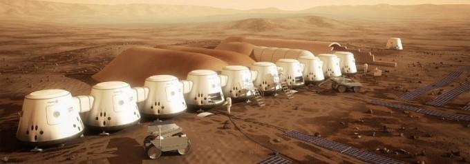 마스원은 2032년까지 인류를 화성에 보내 기지에서 살게 하겠다는 프로젝트를 진행중이다. 화성에 건설할 마스원 기지 상상도. -마스원 제공