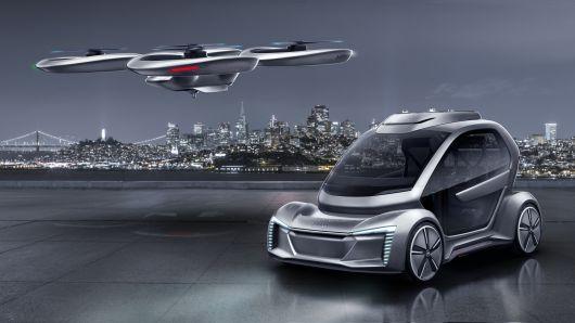 폴크스바겐과 에어버스가 개발 중인 2인승 플라잉카 상상도. - 폴크스바겐 제공