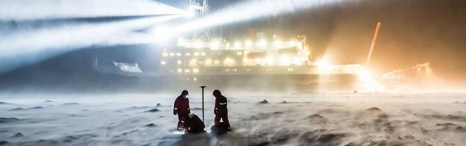 독일 쇄빙선 ′폴라른슈테른′은 1년 동안 북극에 정박하며 북극 기후를 연구하게 된다. -헬름홀츠 극지해양연구센터 알프레드 베게너 연구소 제공