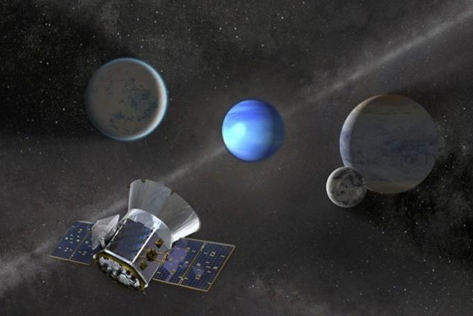 테스우주망원경이 찾은 외계행성을 그린 모식도다- 미국항공우주국 제공